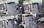 Izraelscy piłkarze ruszają na pomoc kolegom. Film z monitoringu