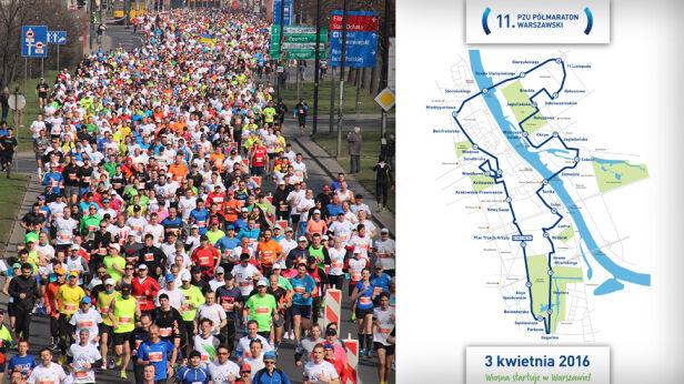 Znamy trasę kwietniowego półmaratonu  mat.organizatora/tvnwarszawa.pl