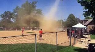 Diabełek pyłowy na meczu baseballu