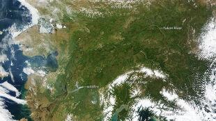 Alaska nietypowo bezchmurna i rekordowo gorąca
